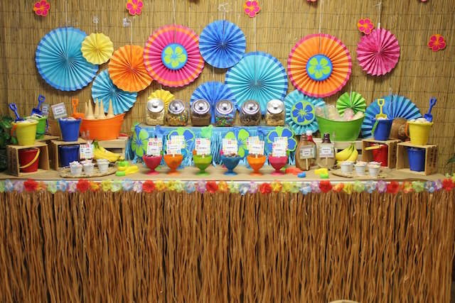 Decoracion Hawaiana Facil ~ Ideas para baby shower con fant?stica decoraci?n de Hawaii