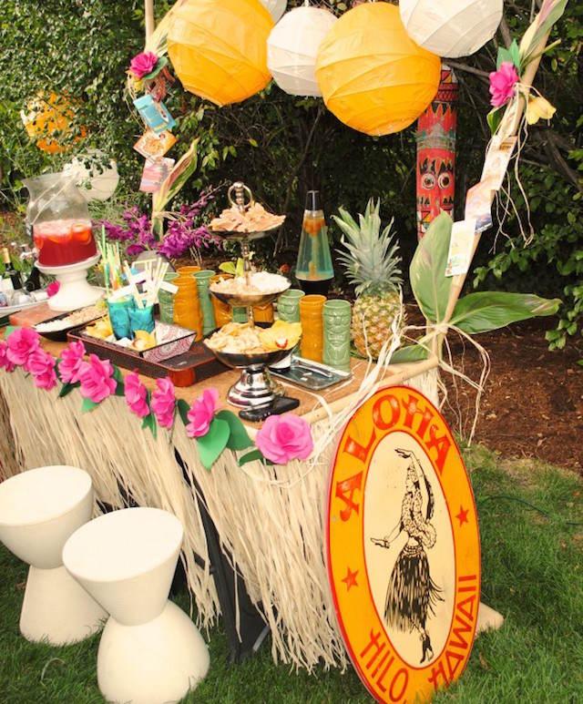 ideas para baby shower estilo hawaii