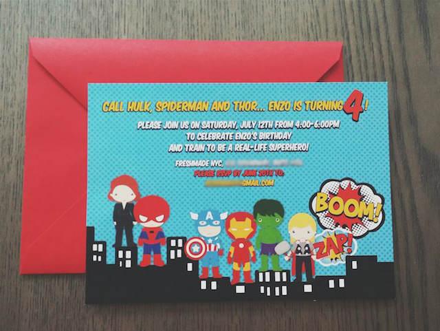 invitación para cumpleaños infantiles tema superhéroes