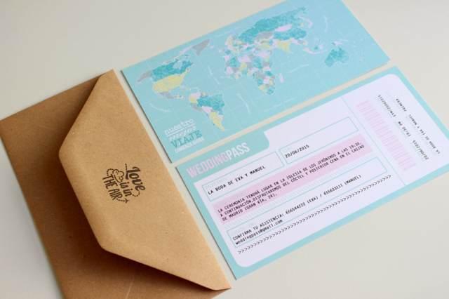 invitaciones boda original regalo viaje romántico