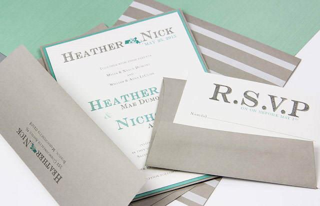 preciosas invitaciones de boda verde lucite 2015