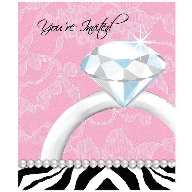 invitaciones para despedida de soltera alianza diamante