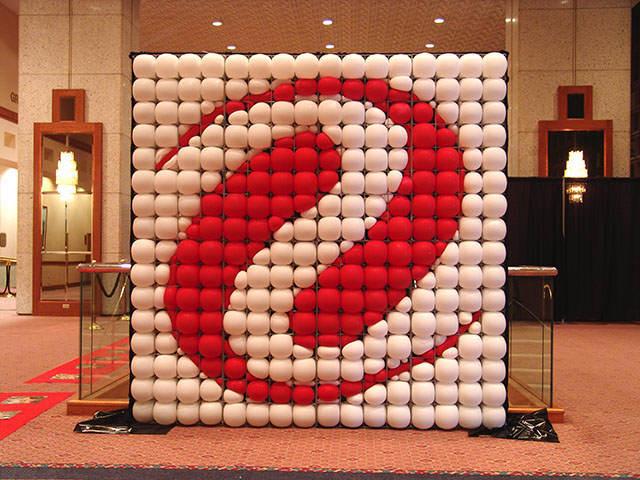 logo de empresa decoración con globos