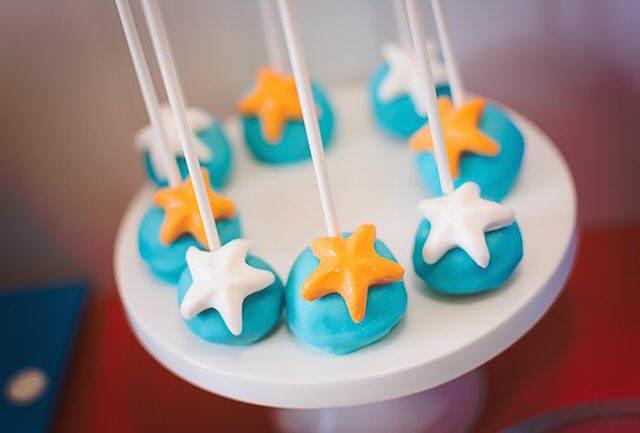 magdalenas decoración temática pequeñas estrellas de mar