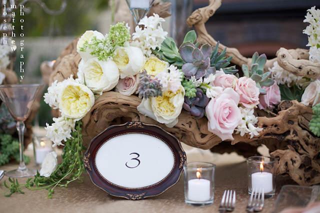 estupenda decoración centros de mesa para boda