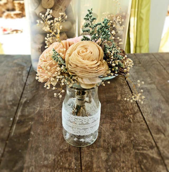 magnífica decoración mezcla estilo rústico vintage boda