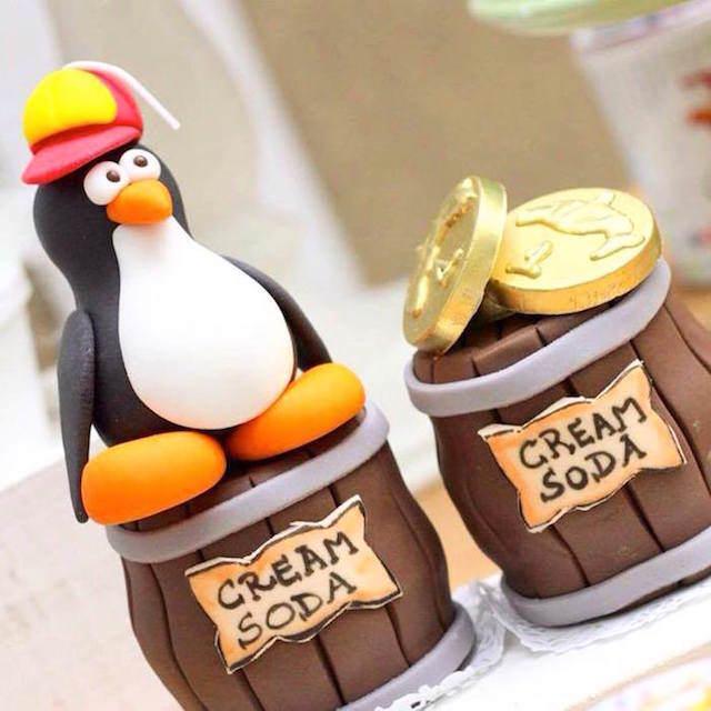preciosa decoración para cumpleaños pingüinos