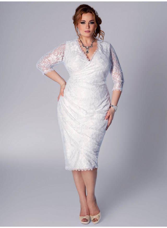 magníficos vestidos de novia para gorditas cortos modernos