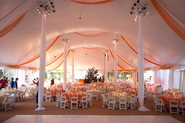 mandarina color moderno 2015 boda acento tela