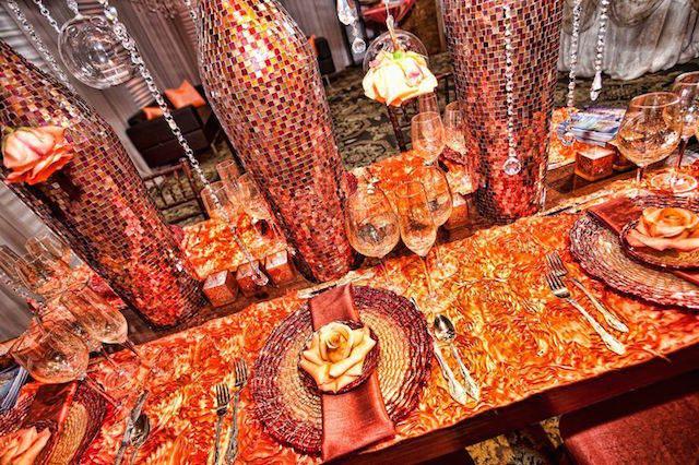 mandarina color moderno año 2015 bodas