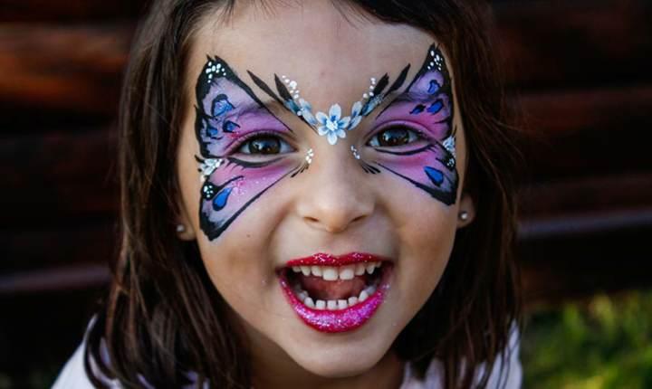 maquillaje infantil magnífico ideas preciosas fiestas cumpleaños