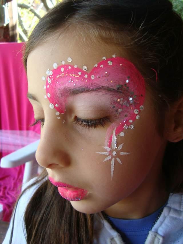maquillaje original infantil fiesta divertida cumpleaños