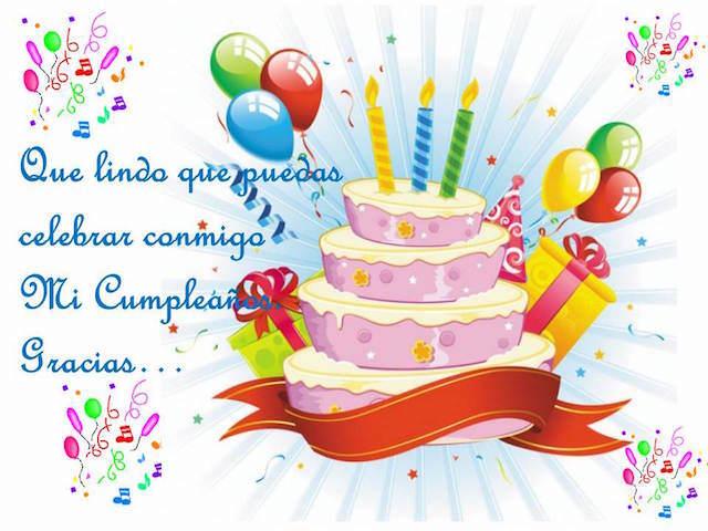 mensajes de cumpleaños celebrar conmigo gracias