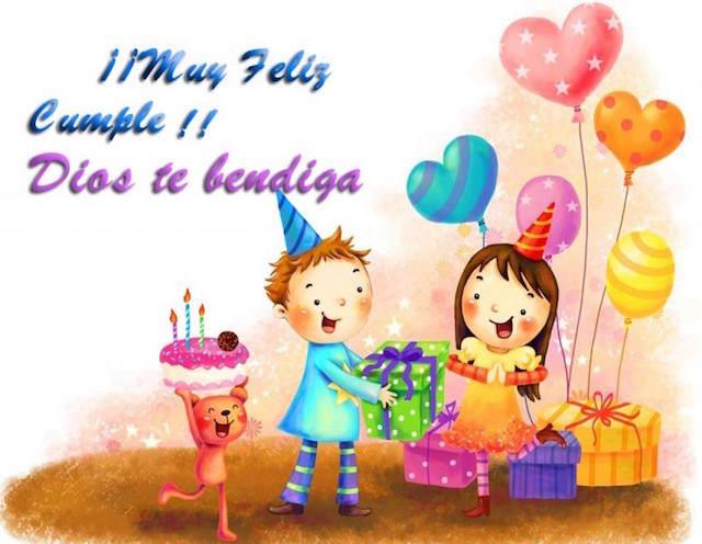 mensajes de cumpleaños muy feliz Dios