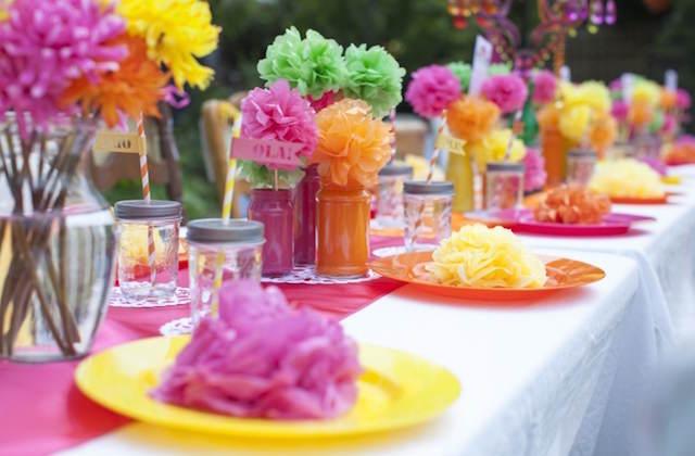 Estupendos arreglos florales para fiestas infantiles - Mesas para cumpleanos infantiles ...