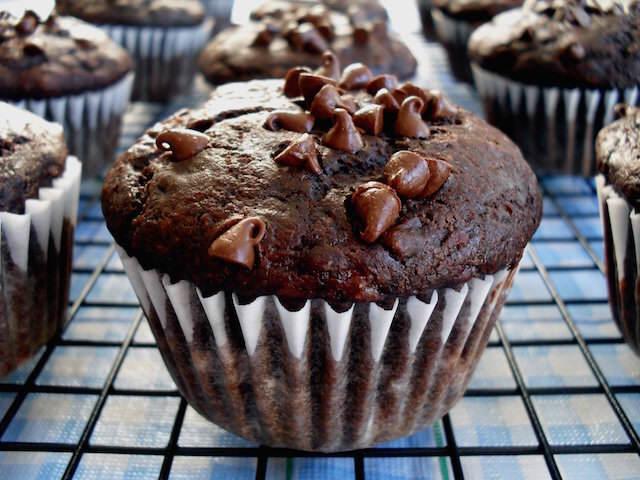 muffins de chocolate banana sabor estupendo