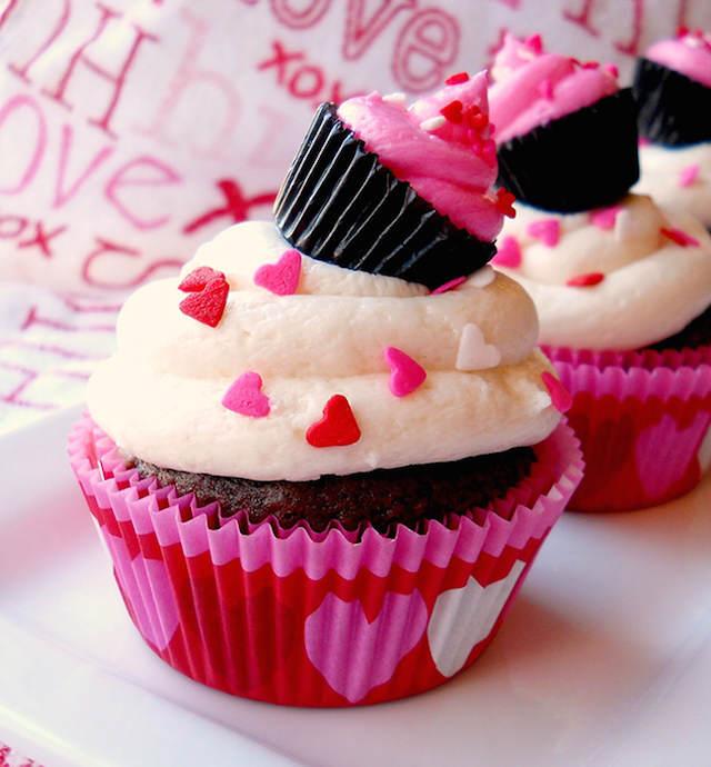 muffins de chocolate temáticos día san Valentín