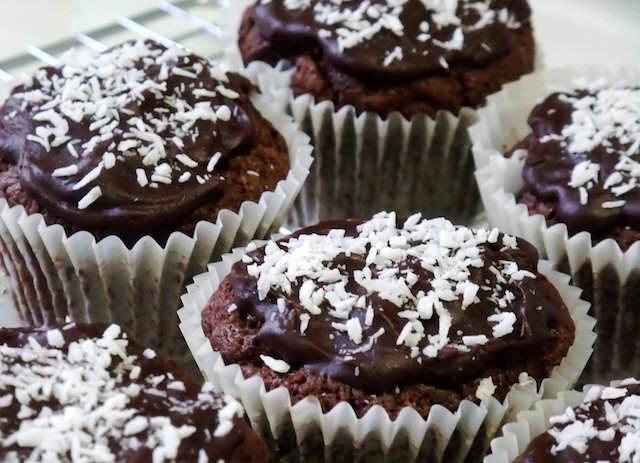 muffins coco mezcla estupenda