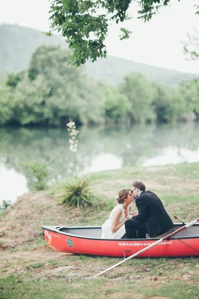 paseo en bote aniversario de novios romántico