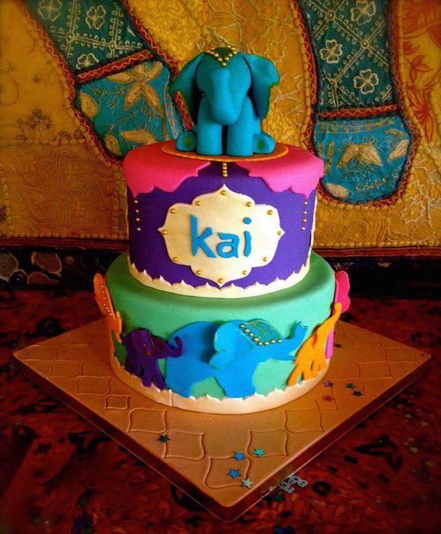pintado pastel para baby shower estilo marroquí