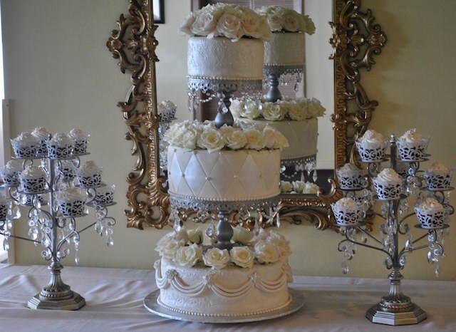pastel para boda magdalenas tema vintage
