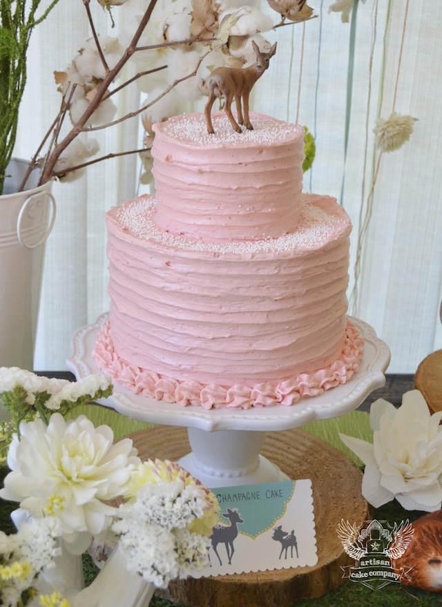 pastel temático para bautizo estilo bosque