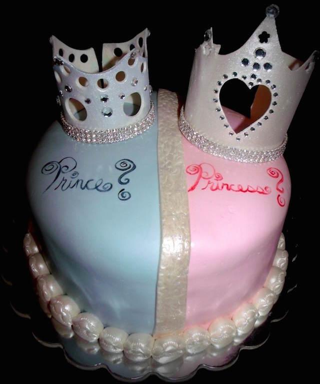 preciosos pasteles para baby shower de gemelos