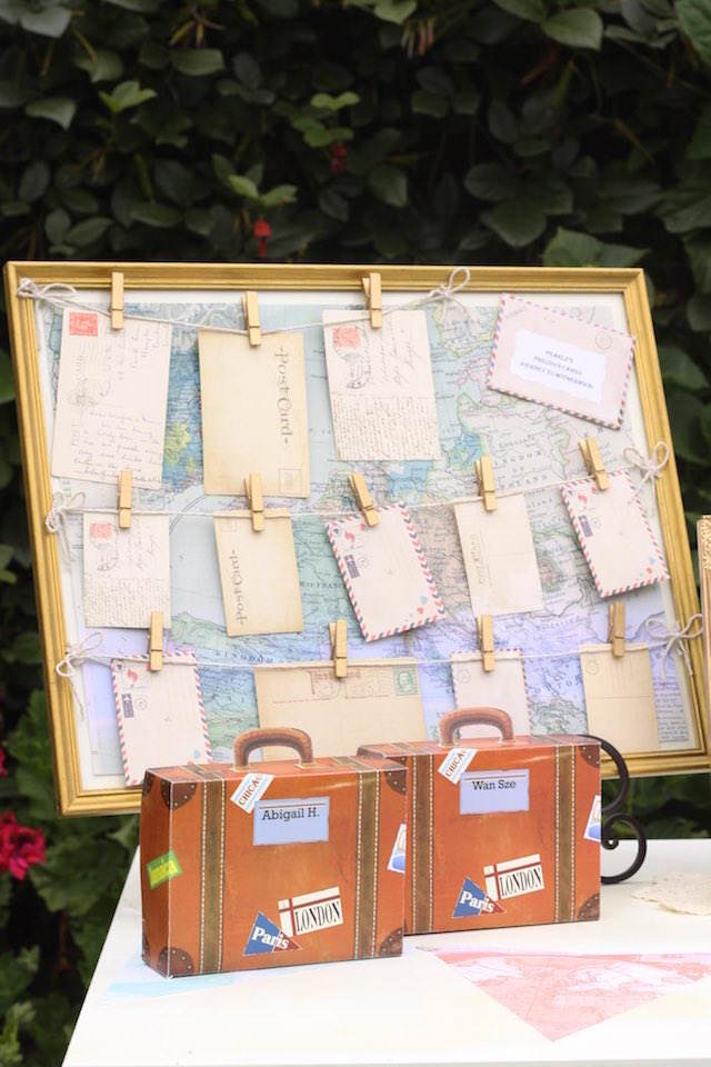pequeñas maletas recuerdos para bautizo temático viaje
