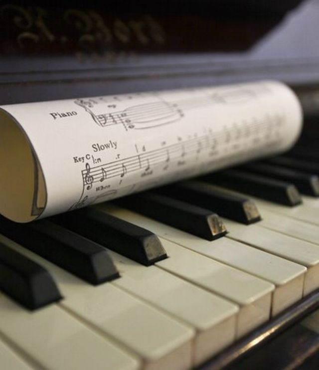 piano hoja notas canciones para dedicar a mi novio