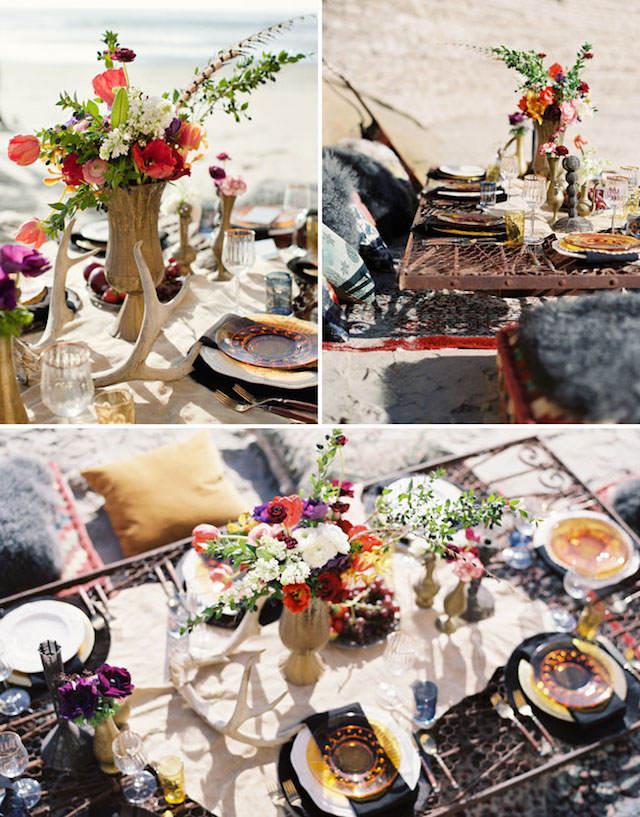 centros de mesa para boda playa