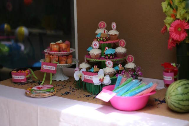 deliciosos postres hawaianos ideas para baby shower