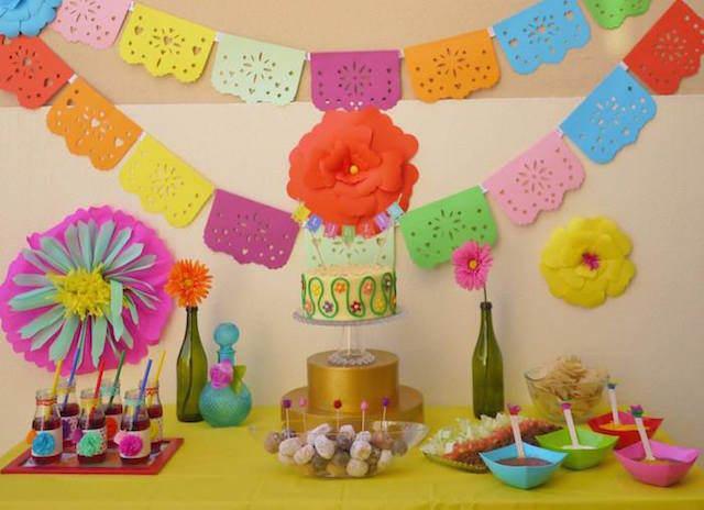 pintada decoración adornos para baby shower