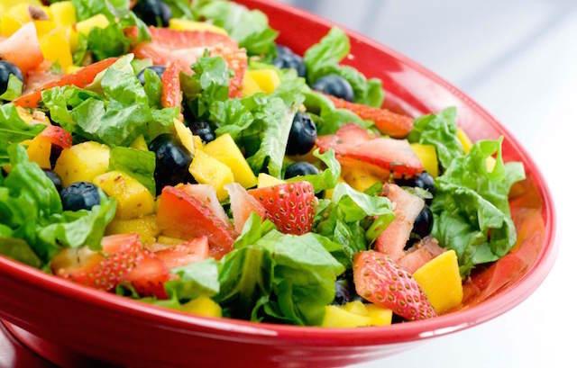 preciosa ensalada mezcla frutas verduras