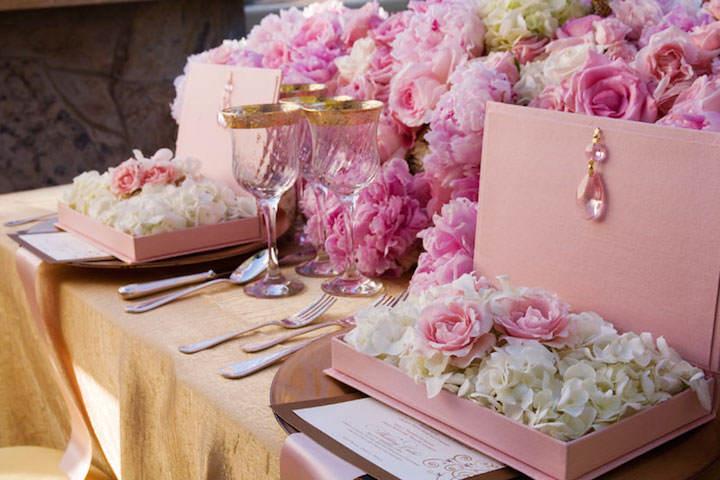 precioso centro de mesa moda fresa hielo