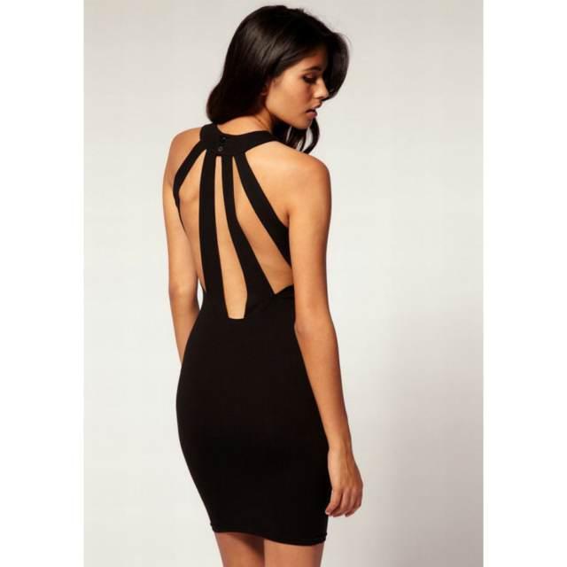 magníficos vestidos de noche color negro despedida de soltera