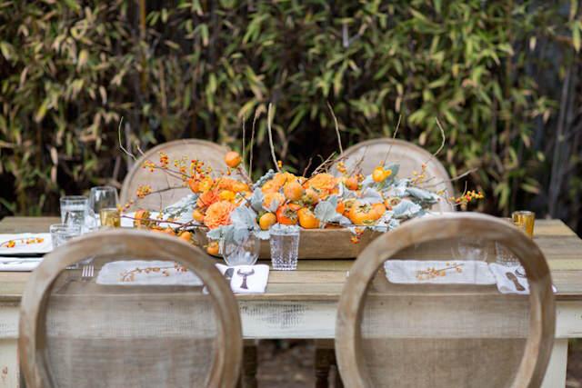 centros de mesa para boda tema rústico frutas