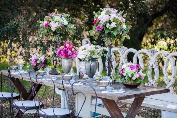 preciosos centros de mesa para boda estilo vintage
