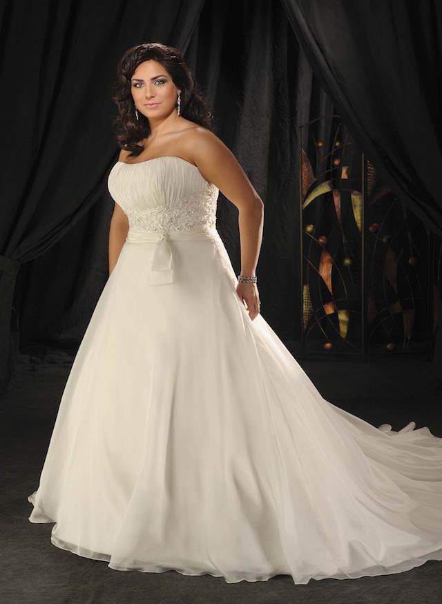 preciosos vestidos de novia para gorditas estilo princesa