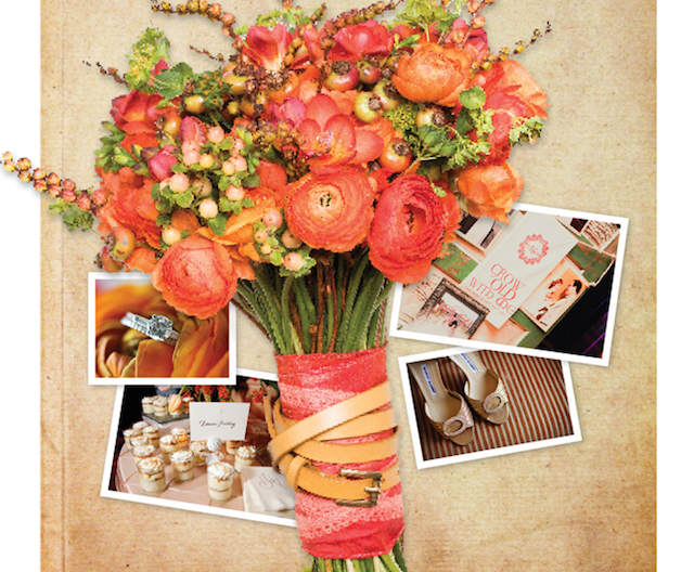 ramo de flores boda moderna primavera verano 2015