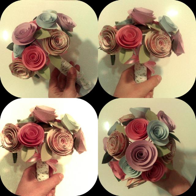 ramo de novia original flores de papel crepe ideas fantásticas