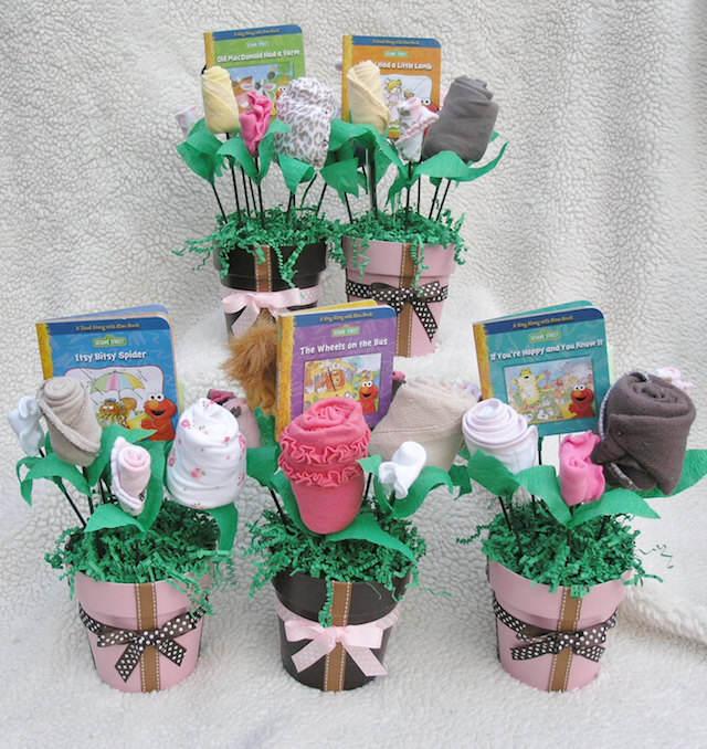 fantásticos ramos de flores artificiales recuerdos para baby shower