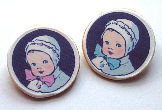 recuerdos para baby shower vintage galletas preciosas