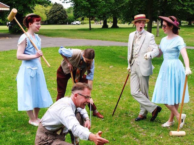 ropa vintage juego críquet cumpleaños temáticos