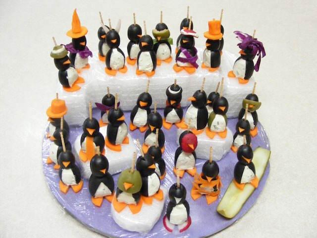 tapas para fiestas infantiles tema pingüino