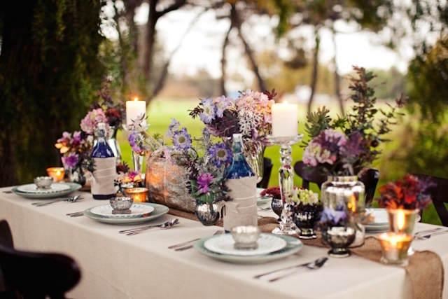 tema bohemio 2015 centros de mesa para boda