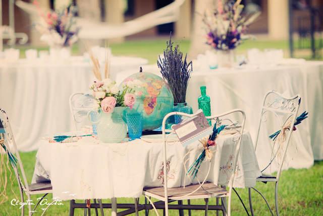estilo boho centros de mesa para boda