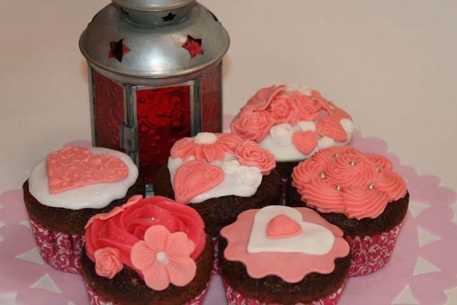 temáticos cupcakes fiesta san Valentín
