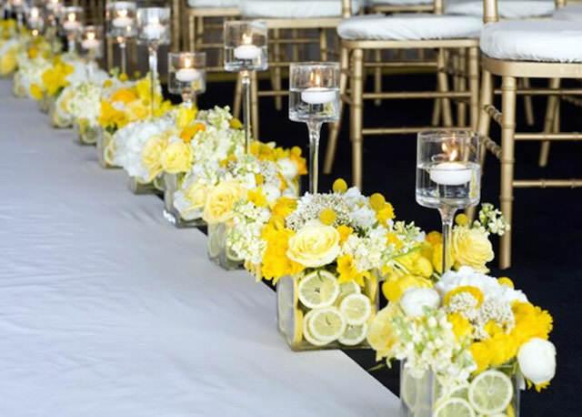 tierna decoración amarillo blanco mezcla