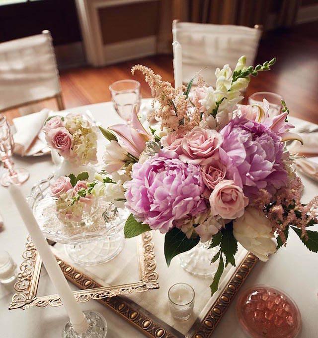 tierna decoración estilo vintage boda preciosa