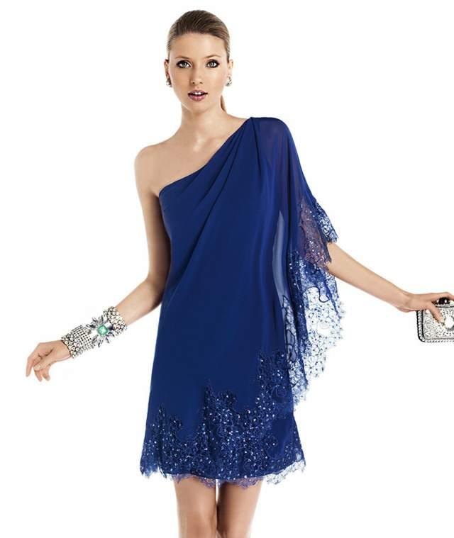 Vestidos azules para fiesta cortos